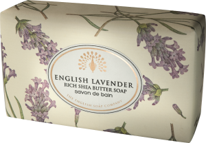 CHI0007 ESC  200g Vintage Italian Wrapped Soap - English lavender 300 DPI